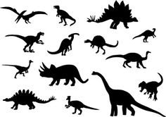 Dinosaur Silhouettes – illustration for shutterstock