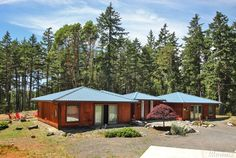 HOME ON 16± ACRES - San Juan Island, WA. 2642± sf with 4 bedrooms en suite each with a walk-in shower, jetted soaking tub and private patio access, heated concrete floors throughout, plus a 1352± sf, 1-bedroom guest house and detached 2-car garage. Includes a B&B Permit.  MLS#1167788***$799,000*** Coldwell Banker/San Juan Islands, Inc.  www.SamBuck.com
