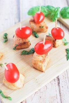 Chicken Caprese Bites #TimeToBelieve #ad