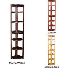Corner Flip Flop 67-inch High Folding Bookcase. Mfr Model # HBCFC6712.  @ Overstock.com item #13938917