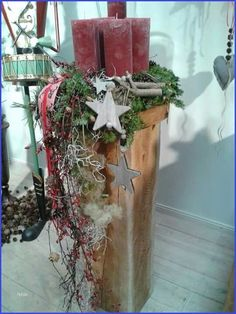 Candlesticks made of wood … – Candlesticks - Wooden diy Christmas Time, Christmas Crafts, Merry Christmas, Family Tree With Pictures, Wooden Candle Holders, Deco Floral, Wooden Diy, Xmas Decorations, Holidays And Events