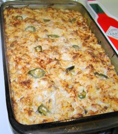 Jalapeno Hashbrowns - Hubby made these, they are wonderful.  He used serrano peppers chopped for a bit more spice (instead of the pickled jalapenos).  Great breakfast or any time casserole!