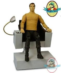 Star Trek Tos Pilot James Kirk In Command Chair Sdcc | Man of Action Figures