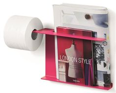 Toilet Paper Holder & Multi Function Wall Bar in Fuschia [ID 1694469] #WSBathCollections