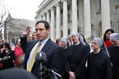 Lead counsel Mark Rienzi, representing the Little Sisters of the Poor, who are challenging a provision of federal health care law mandating coverage for birth control. (Photo: Brennan Linsley/AP)