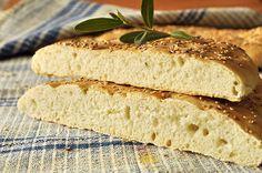Λαγάνα χωρίς ζύμωμα/No knead focaccia