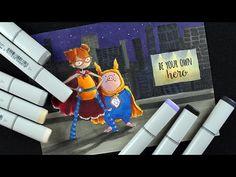 Color a Night Cityscape: Superhero Duos | Sandy Allnock