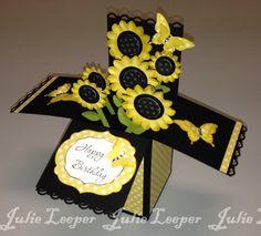Sunflower Card in a Box - bjl