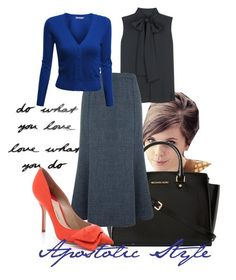 Business Smarts Apostolic Style by emmyholloway on Polyvore featuring Doublju, Victoria Beckham, Eastex, Paul Andrew, MICHAEL Michael Kors and Umbra