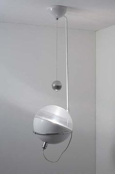 Fabio Lenci; Perspex, Painted and Chrome-Plated Steel 'Focus' Ceiling Light for Guzzini, c1970.