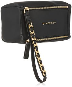 Givenchy Small Pandora wristlet bag in black coated canvas