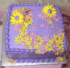 Ideas for cake birthday flowers butterflies Pink Birthday Cakes, 18th Birthday Cake, Purple Birthday, Violet Cakes, Purple Cakes, Purple Butterfly, Purple Flowers, Cake Flowers, Cake Central