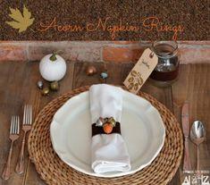 Acorn Craft: DIY Painted Acorn Napkin Rings