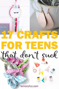17 Teen Crafts that Don't Suck - - Crafts for teens that are easy to make. Craft projects for the DIY teen that aren't stupid. Find a cool new project to learn. Repurpose sweaters, make bracelets, design t-shirts with a Cricut, and fold paper flowers. Diy Craft Projects, Fun Diy Crafts, Creative Crafts, Craft Projects For Adults, Diy Crafts Summer, Diy Summer Projects, Diy Projects To Do At Home, Stick Crafts, Upcycled Crafts