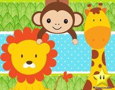 Invitaciónes para baby shower con imagenes de animalitos de la .