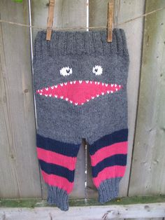 Hand Knit Baby Striped Monster Pants by WarmWoolenWishes on Etsy