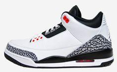 Pre Order 136064-123 Air Jordan 3 White Cement Grey Infrared 23 Black $119.99 http://www.newjordanstores.com/