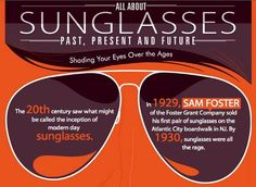 Check out this wild infographic showing the complete history of sunglasses fashions. It reminds me of paper dolls.   Did you know infographics are the 4th most compelling reason people click on links?