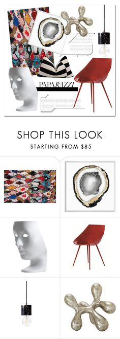 """""""Blueprint2"""" by yihansong ❤ liked on Polyvore featuring interior, interiors, interior design, home, home decor, interior decorating, Natural Curiosities, Driade and colorfulrugs"""