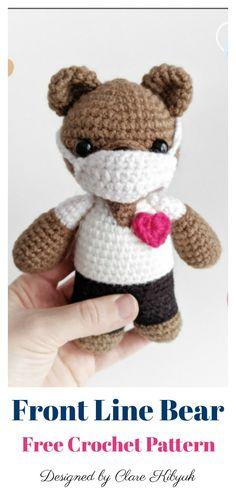 Crochet Teddy Bear Pattern, Crochet Animal Patterns, Stuffed Animal Patterns, Crochet Patterns Amigurumi, Knitting Patterns, Knitting Tutorials, Loom Knitting, Free Knitting, Stitch Patterns
