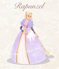 Rapunzel Costume, Rapunzel Barbie, Barbie Drawing, Pretty Art, Cute Art, Barbie Movies, Disney Princess Art, Cute Disney, Lilo And Stitch