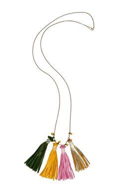 Leather Tassel Necklace - Plümo Ltd