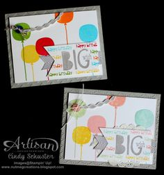 Big Wish Cards by Nutmeg Creations Cindy Schuster - Subtle or Bold colors