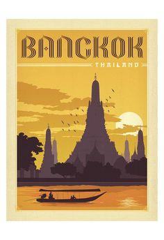 Bangkok, Thailand Taide tekijänä Anderson Design Group AllPosters.fi-sivustossa