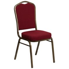 Charming Flash Furniture Hercules Series Crown Back Stacking Banquet Chair With  Burgundy Fabric And 2.5u0027u0027