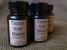 Tame that Mane AntiFrizz Hair Oil by Briny Bar Soap on Etsy, $7.00