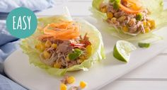 Lunch in a lettuce cup! Keep things fresh and easy with this tasty Chilli Tuna San Choy Bau.  #asianfood #fresh #recipe