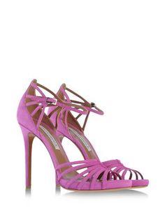 Cosmo sandal in bougainvillea colored suede. #exclusive