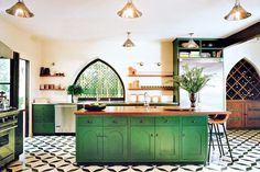 Go Green - 15 Times Painted Kitchen Cabinets Changed Everything - Photos