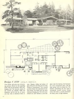 Mid Century House Plans Beautiful Vintage House Plans Houses Mid Century Homes House Plans One Story, Ranch House Plans, Mansion Plans, 1960s House, Modern Floor Plans, Midcentury Modern House Plans, Vintage House Plans, Vintage Homes, Tudor Style Homes