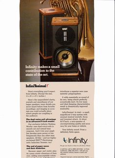 1980 Infinity EMIT home speakers Rolling Stone: College Papers Spring 1980