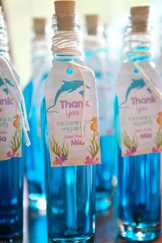 Pretty favors at an under the sea birthday party! See more party ideas at CatchMyParty.com!