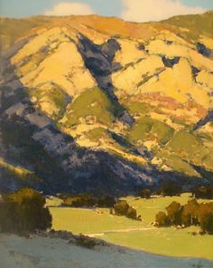 Hills of San Louis Obispo by Brian Blood Oil ~ 30 x 24 Contemporary Landscape, Landscape Art, Landscape Paintings, Western Landscape, Illustration Art, Illustrations, Paintings I Love, Oil Paintings, Wow Art
