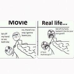 Movie vs Real Life #Funny, #Comic, #Troll, #Meme