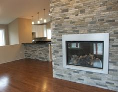 Add some natural style to your home with these stone and brick accent walls! Learn how to install stone veneer, and brick veneer as well! Faux Stone Veneer, Stone Veneer Fireplace, Faux Stone Walls, Stone Accent Walls, Brick And Stone, Airstone Fireplace, Fireplace Ideas, Airstone Wall, Fireplaces