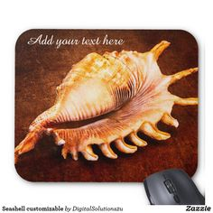 Seashell customizable mouse pad
