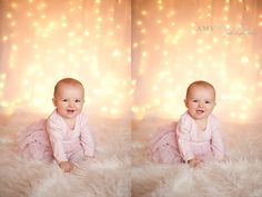 baby's first christmas. Love the idea of white light background