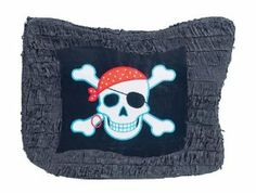 """Pirate Flag Pinata by Ya Otta Pinata. $19.20. Includes one package of 1.. Hoist your colors matie! This fun pirate flag pinata measures approximately 24 1/4"""" in length. Fill with treats of choice (not included) such as wrapped candies or small soft toys, and hang from a sturdy support with a strong rope. Recommended limit of 2lbs. Pinatas can be used as a decoration or party game!"""