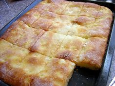 German Butter Cake Mmmm  My MOM used to make this.  and sometimes she would make it with plums...
