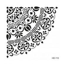 Home Decor (Duvar) Stencıl 45*45 cm HD-110 Stencil Templates, Stencil Patterns, Stencil Designs, Stencils Mandala, Stencil Painting, Mandala Drawing, Mandala Art, Moroccan Stencil, Silhouette Portrait