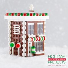The Gingerbread Shop is the penultimate project for this year's Holiday Build-it-Yourself series! Grab a kit at http://powerpig.storenvy.com