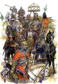 Падение Золотой Орды Warrior Paint, Warrior 1, Military Costumes, Eurasian Steppe, Genghis Khan, Medieval Armor, Dark Ages, Middle Ages, Armures