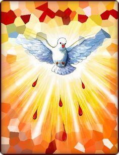 Religiosidad Popular, Holy Ghost, Jesus Loves Me, Bible Verses Quotes, Kirchen, Holy Spirit, Communion, Holi, Jesus Christ