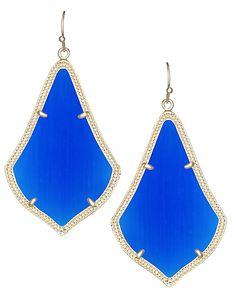 Alexandra Earrings in Cobalt - Kendra Scott Jewelry.