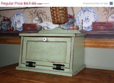 SALE 12 off thru Feb 1 Bread Box Shabby Chic by RedBudPrimitives, $51.00