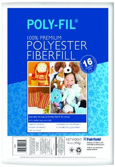 Fairfield PolyFil Premium Polyester Fiber White 1 Bag 16Ounce *** Check out the image by visiting the link.
